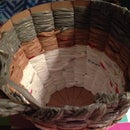 Recycled woven basket