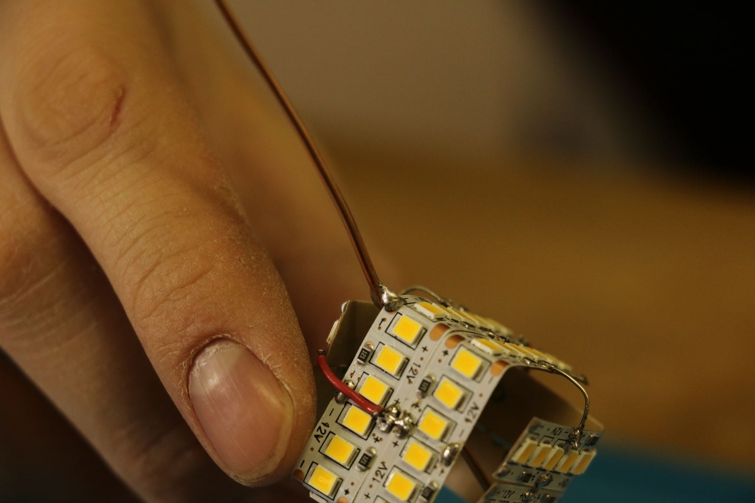 Light Preparing (soldering) & Insertion