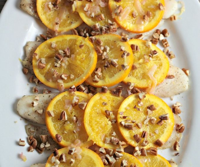 Fish with Oranges and Pecans