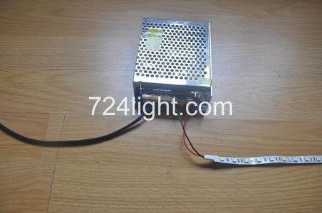 Connect Single Color Led Strip Light With Switching Enclosed Type Power Supply