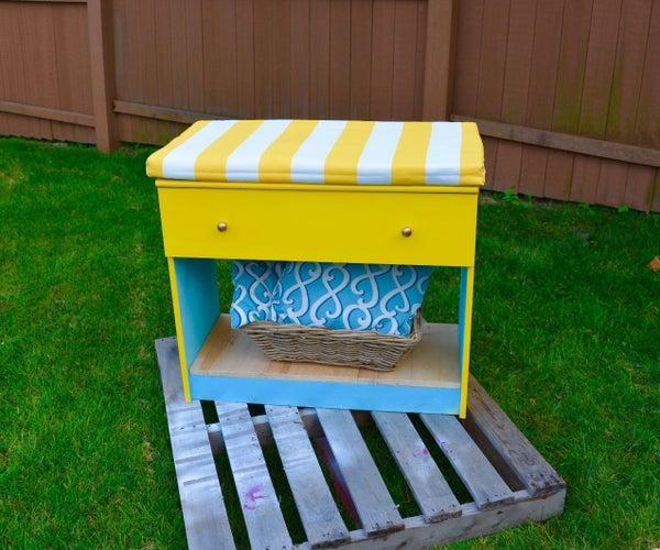 ReStore DIY Makeover: DIY an Old Dresser Into Pretty Storage Bench