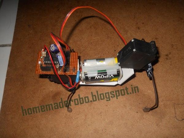 Quadruped Robot Using 2 Servos With Home Made Arduino