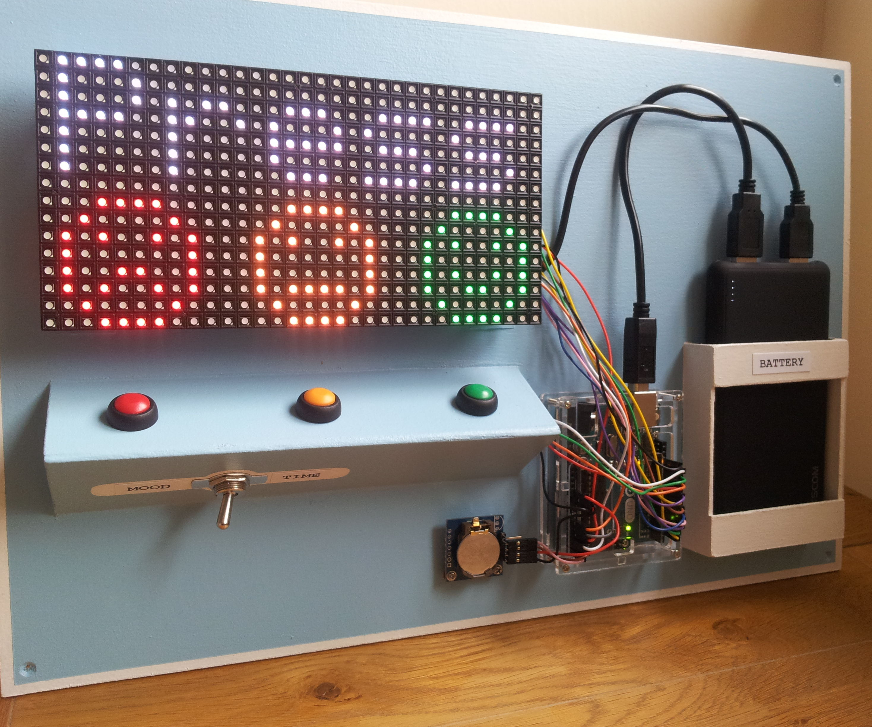 Arduino Mood Gauge With Clock