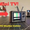 Mini-TV Weather Station With the ESP32!!