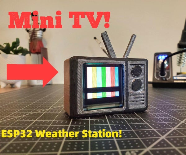 Mini-TV Weather Station With the ESP32!