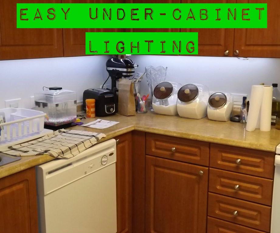 Easy Under-Cabinet Lighting