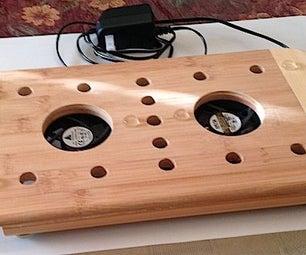 Bamboo Laptop Cooler