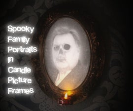 Spooky Candle Picture Frame