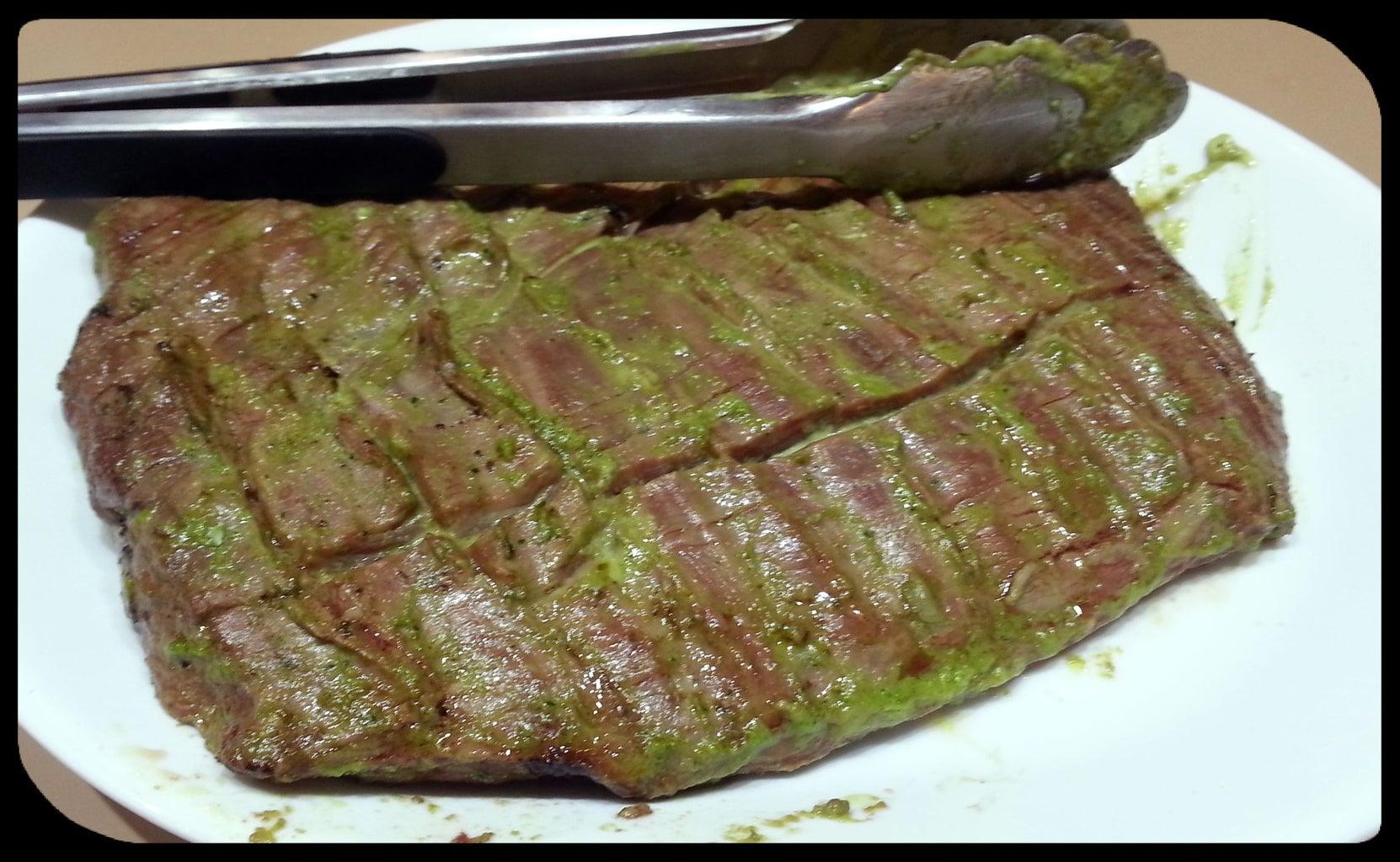 Serve and Enjoy Marinated Steak!