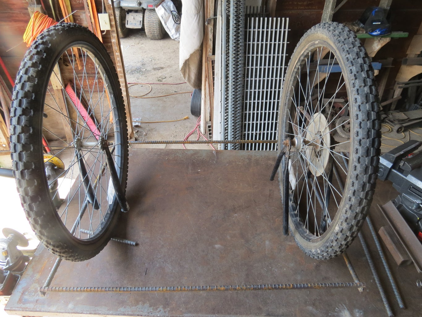 Position Second Wheel and Weld on Opposite Side