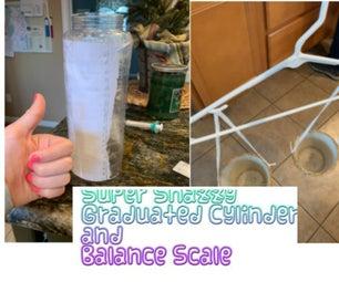 超级时髦的量筒和平衡秤!
