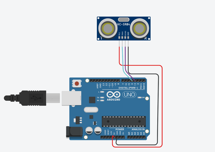 Circuit Schematic for Arduino and Ultrasonic Sensor