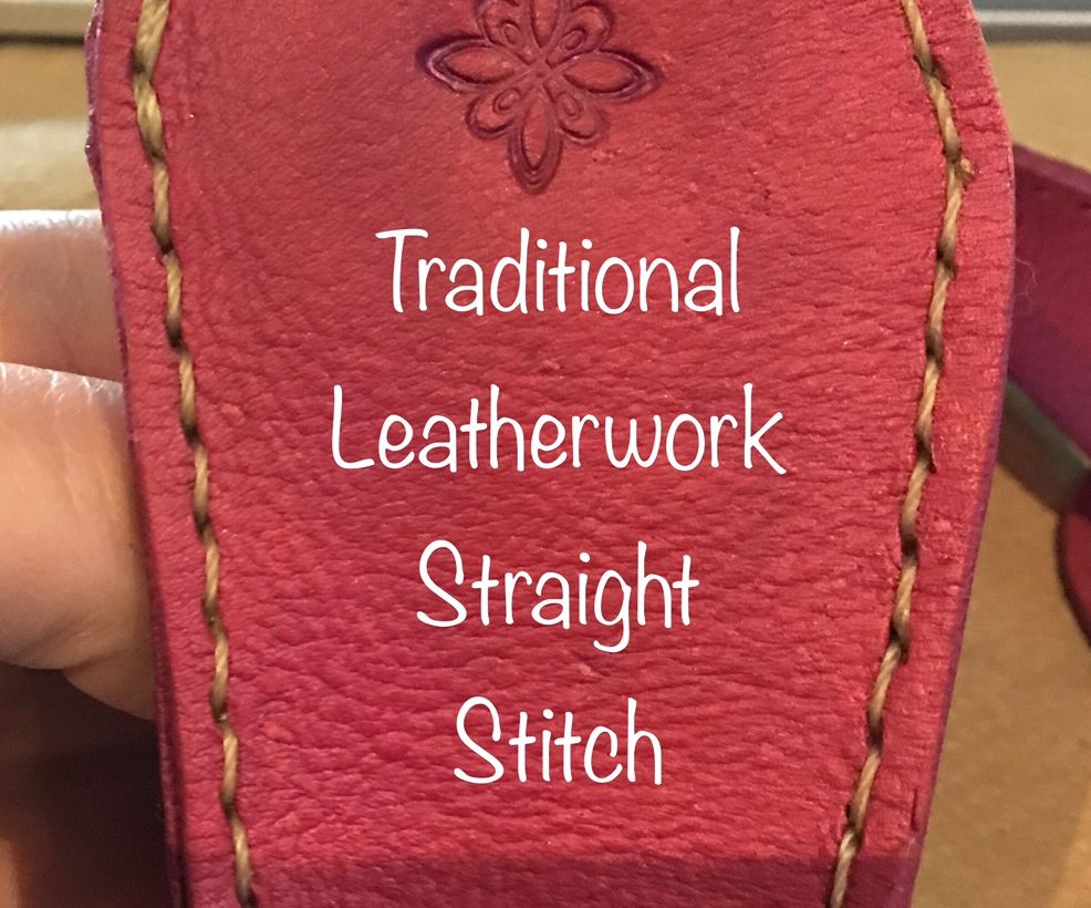How to Do a Straight Stitch in Traditional Leatherworking