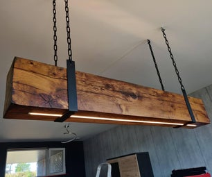 Reclaimed Oak Beam Light