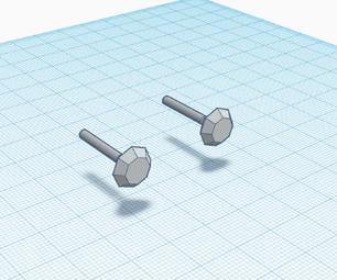 如何使用Tinkercad制作钻石耳钉