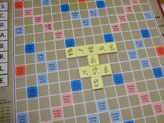 Stick to the Scrabble Tiles and Play!