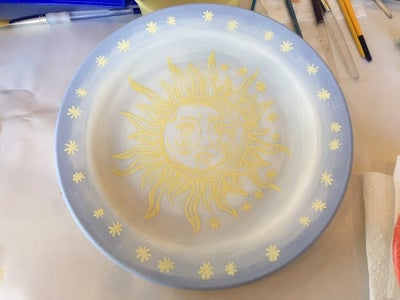 Screen Printing the Sun/moon