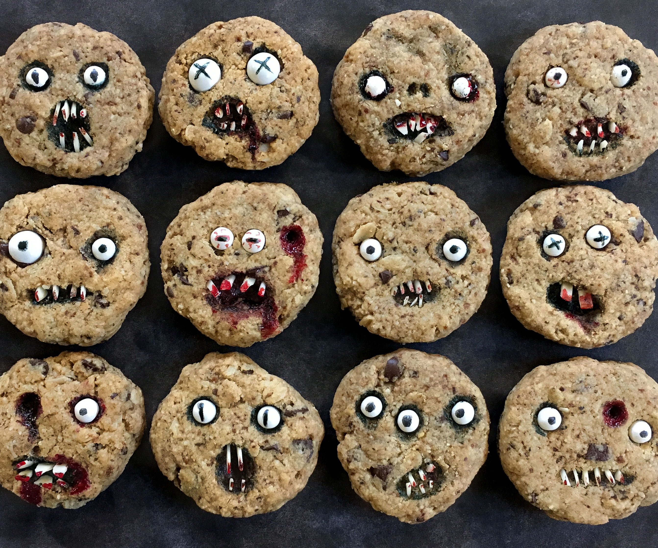 Creepy Chocolate Chip Cookies