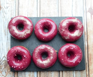Sweet Potato and Blueberry Doughnut (Baked, Not Fried)
