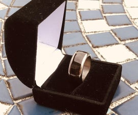 Ebony Ring With a Titanium Recessed 2 Piece Band Diy