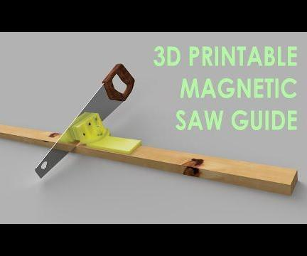 Magnetic Handsaw Guide - Adjustable and 3D Printed