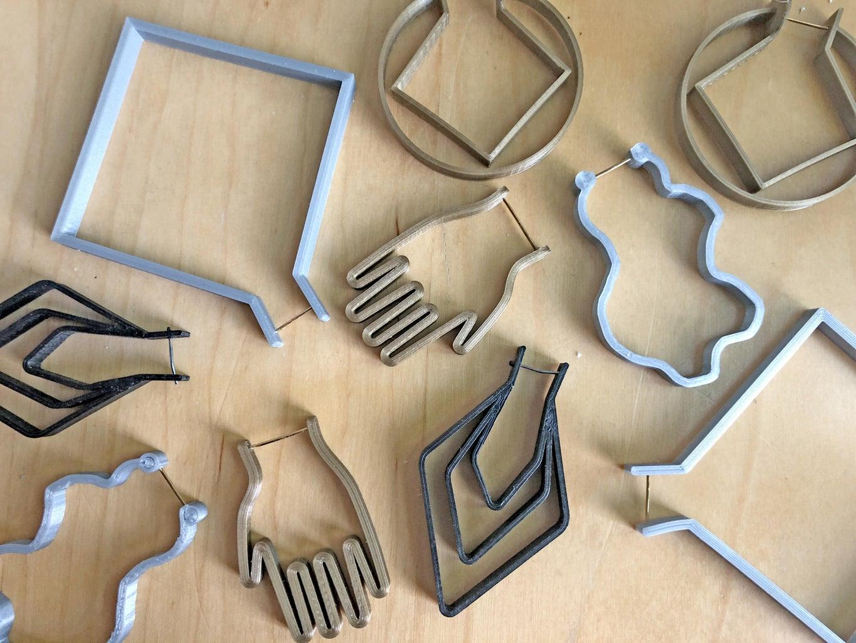 Easy 3D Printed Earhoops in Any Shape