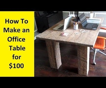 How to Make a Rough Hewn Office Table