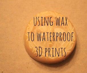 Using Wax to Waterproof 3D Prints