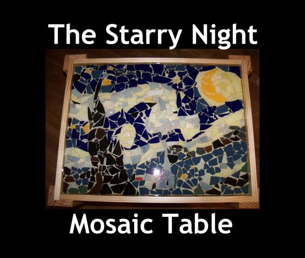 The Starry Night Mosaic Table