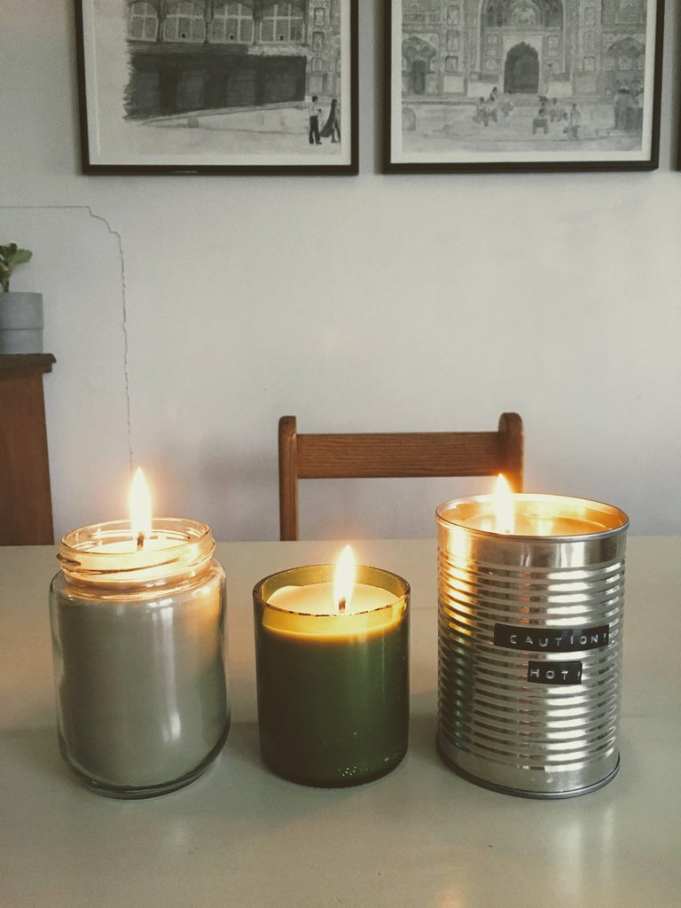 Recycled Container Candles