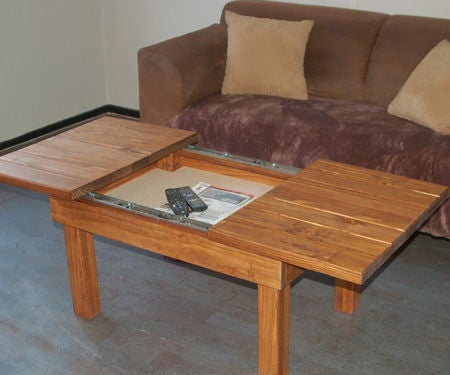Coffee Table With Storage Compartment 3 Steps Pictures Instructables - How To Stain And Seal Coffee Table