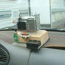 Detachable car mount for time lapse camera.