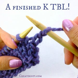 A Finished Knit Through the Back Loop! (K TBL)