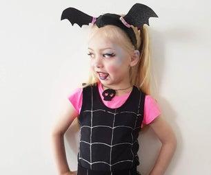 Easy Vampirina Kid's Costume Tutorial for Halloween