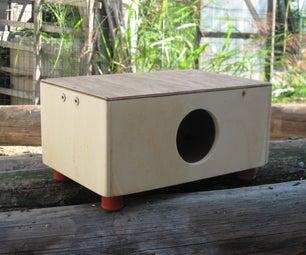 Plywood Mini Cajon (Hand Drum With Guitar String)
