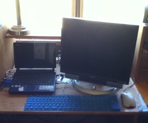 Turning a Laptop Into a Desktop Computer (no Soldering Required)