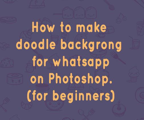 Whatsapp doodle like background