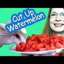 FASTEST WAY to CUT UP WATERMELON into BITE-SIZED PIECES