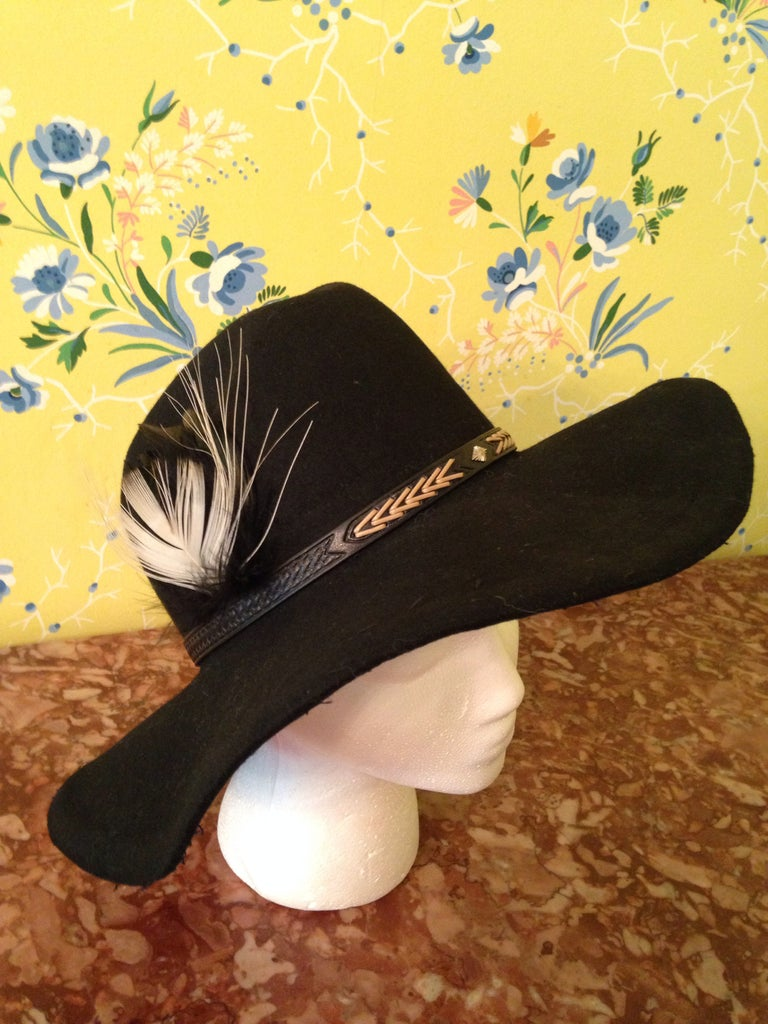 How To: 70s Style Floppy Felt Hat From an Old Western Hat