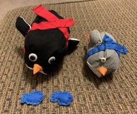 Sledding Stuffed Animal Penguin