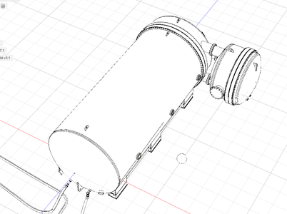 Creating a 3D Model by Old Paper Blueprints