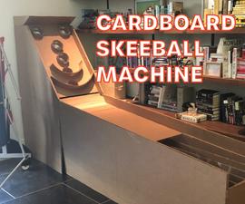 Full-Sized Cardboard Skeeball Machine