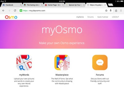 Create an Account at My Osmo
