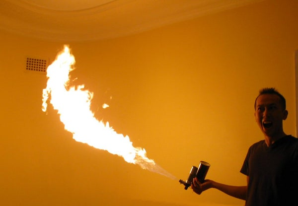Awesome Single Handed Portable Flame Thrower