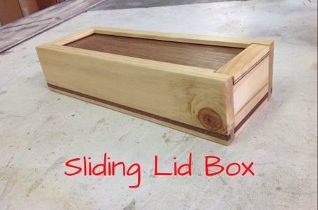 Sliding Lid Box