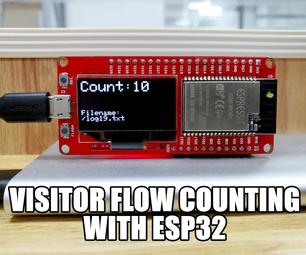 Visitor flow rate Counting With ESP32