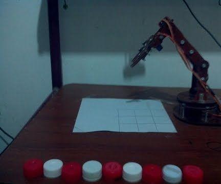 Robotic Arm Plays Tic Tac Toe