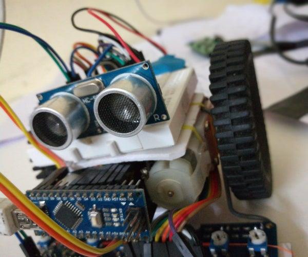 IR LINE FOLLOWING ROBOT  USING IR SENSOR ARRAY(8 INPUT) AND L293D MOTOR DRIVER