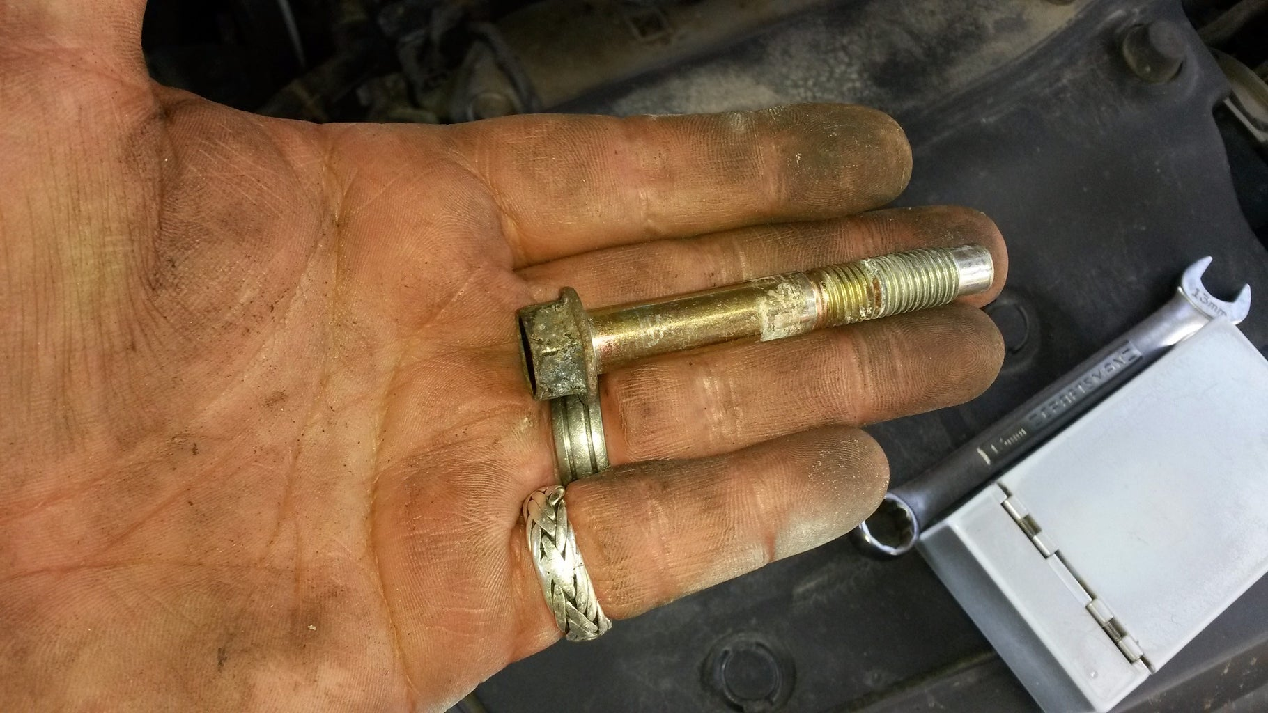 Remove the Altenator Mounting Bolts