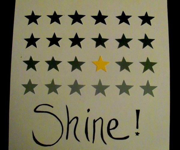 Paint Chip Star Art